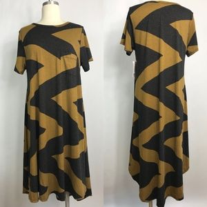 NWT LuLaRoe Carly black and tan md